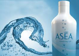 Photo of ASEA bottle with curling water